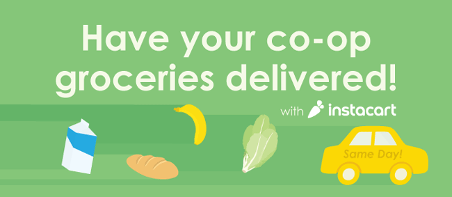 Central Co-op grocery delivery in Seattle via Instacart