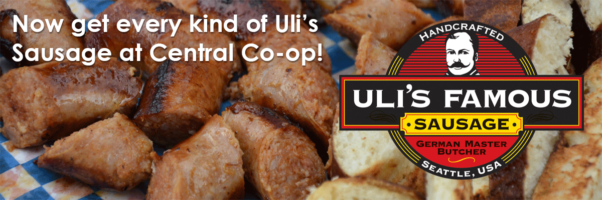 Now get every kind of Uli's Sausage at Central Co-op!