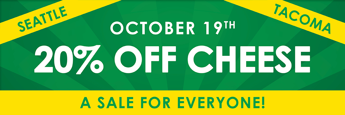 20% Off Cheese November 19